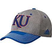adidas Men's Kansas Jayhawks Grey/Blue Structured Adjustable Hat