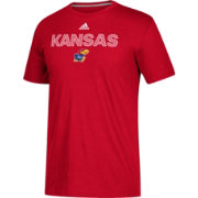 adidas Men's Kansas Jayhawks Crimson Go-To Performance T-Shirt