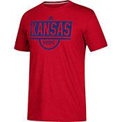 adidas Men's Kansas Jayhawks Crimson Practice Basketball T-Shirt