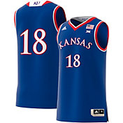 adidas Men's Kansas Jayhawks #18 Blue Replica Basketball Jersey