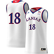 adidas Men's Kansas Jayhawks Replica Basketball White Jersey