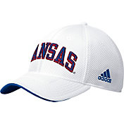 adidas Men's Kansas Jayhawks Structured Adjustable White Hat
