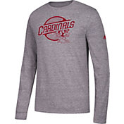 adidas Men's Louisville Cardinals Grey Long Sleeve Tri-Blend T-Shirt