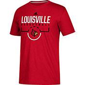 adidas Men's Louisville Cardinals Cardinal Red Practice Basketball T-Shirt