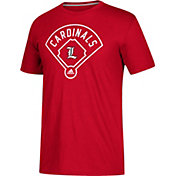adidas Men's Louisville Cardinals Red 'Around The Horn' Go-To Performance Baseball T-Shirt