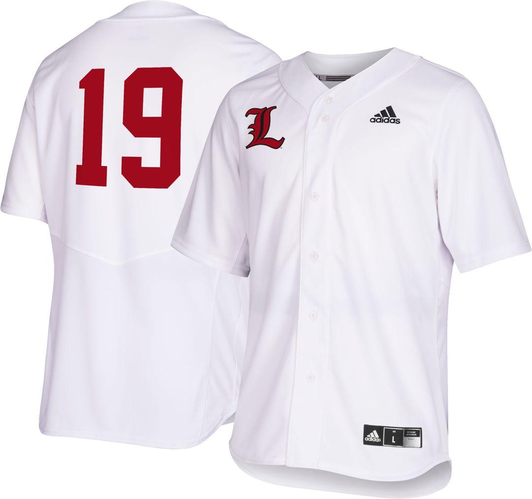 super cute 6bb82 ec041 adidas Men's Louisville Cardinals #19 Replica Baseball White Jersey