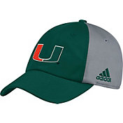 adidas Men's Miami Hurricanes Green/Grey Slouch Football Sideline Hat