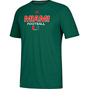 adidas Men's Miami Hurricanes Green Ultimate Performance Football T-Shirt