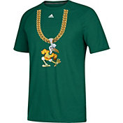 adidas Men's Miami Hurricanes Green 'Turnover Chain' Football T-Shirt