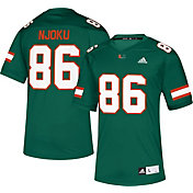 adidas Men's David Njoku Miami Hurricanes Green #86 Replica Football Jersey