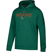 adidas Men's Miami Hurricanes Green Team Issue Performance Hoodie