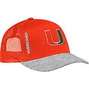 adidas Men's Miami Hurricanes Orange Slouch Meshback Hat