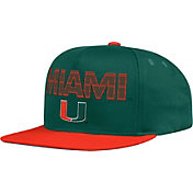 adidas Men's Miami Hurricanes Green Flex Adjustable Hat