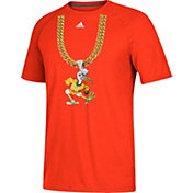 adidas Men's Miami Hurricanes Orange 'Turnover Chain' Football T-Shirt