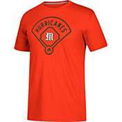 adidas Men's Miami Hurricanes Orange 'Around The Horn' Go-To Performance Baseball T-Shirt