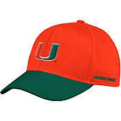 adidas Men's Miami Hurricanes Orange Flex Football Sideline Hat