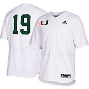 adidas Men's Miami Hurricanes #19 Replica Baseball White Jersey
