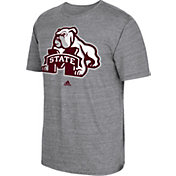 adidas Men's Mississippi State Bulldogs Grey Vintage Tri-Blend T-Shirt
