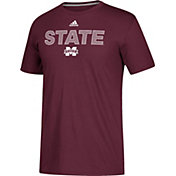 adidas Men's Mississippi State Bulldogs Maroon Go-To Performance T-Shirt