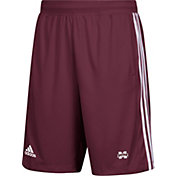 adidas Men's Mississippi State Bulldogs Maroon 3-Stripes Knit Performance Shorts