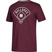 adidas Men's Mississippi State Bulldogs Maroon 'Around The Horn' Go-To Performance Baseball T-Shirt