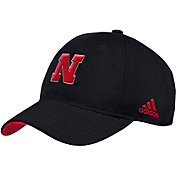 adidas Men's Nebraska Cornhuskers Slouch Football Sideline Black Hat