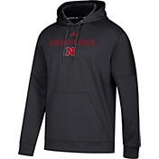 adidas Men's Nebraska Cornhuskers Team Issue Performance Black Hoodie