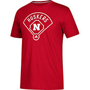 adidas Men's Nebraska Cornhuskers Scarlet 'Around The Horn' Go-To Performance Baseball T-Shirt