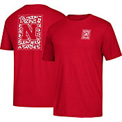 adidas Men's Nebraska Cornhuskers Scarlet Word-Up Tri-Blend T-Shirt