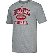 adidas Men's Nebraska Cornhuskers Grey 'Bugeater' Tri-Blend Football T-Shirt