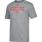 adidas Men's Nebraska Cornhuskers Grey 'Bugeater' Tri-Blend Football T-Shirt