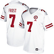 adidas Men's Scott Frost Nebraska Cornhuskers #7 Replica Football White Jersey