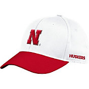 adidas Men's Nebraska Cornhuskers Cream Flex Football Sideline Hat