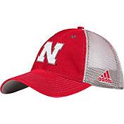 adidas Men's Nebraska Cornhuskers Scarlet/White Slouch Meshback Hat
