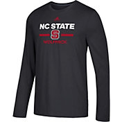 adidas Men's NC State Wolfpack Go-To Long Sleeve Performance Black Shirt