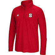 adidas Men's NC State Wolfpack Red Long Sleeve Quarter-Zip Performance Shirt