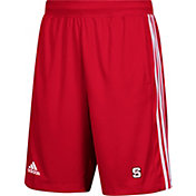 adidas Men's NC State Wolfpack Red 3-Stripes Knit Performance Shorts
