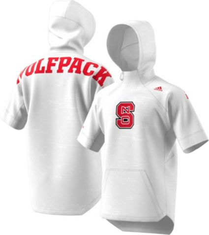 e8079428a47fd adidas Men s NC State Wolfpack Short Sleeve Shooter Basketball White ...