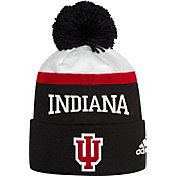 adidas Men's Indiana Hoosiers Cuffed Pom Knit Black Beanie