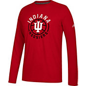 adidas Men's Indiana Hoosiers Crmison Center Court Long Sleeve Basketball T-Shirt