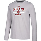 adidas Men's Indiana Hoosiers Grey Go-To Long Sleeve Performance Shirt