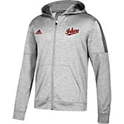 adidas Men's Indiana Hoosiers Grey Team Issue Full-Zip Performance Football Hoodie