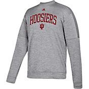 adidas Men's Indiana Hoosiers Grey Team Issue Performance Football Sweatshirt