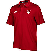 adidas Men's Indiana Hoosiers Crimson Sideline Iconic Polo