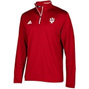 adidas Men's Indiana Hoosiers Crimson Team Iconic Football Quarter-Zip