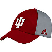 adidas Men's Indiana Hoosiers Crimson/Grey Slouch Football Sideline Hat