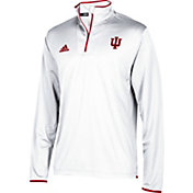 adidas Men's Indiana Hoosiers Cream Team Iconic Football Quarter-Zip