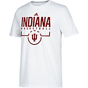 adidas Men's Indiana Hoosiers Practice Basketball White T-Shirt