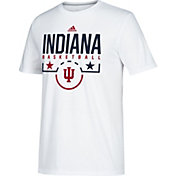 adidas Men's Indiana Hoosiers Performance Basketball White T-Shirt