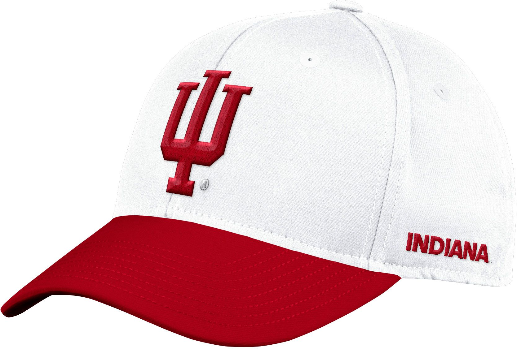 4463b3fa0a7d3 closeout adidas mens indiana hoosiers white flex football sideline hat  eefe6 0d824